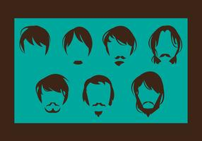 Free Man Hair Style Vector