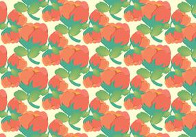 Free Pastel Cotton Plant Pattern Vector