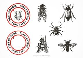 Free Pest Control Vector Set