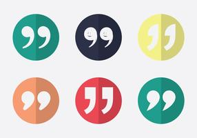 Free Quotation mark Vector Icon