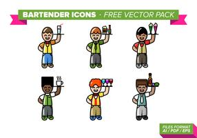 Bartender Icons Free Vector Pack