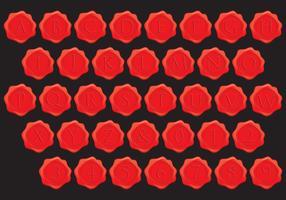 Stempel Wax Alphabet Vectors