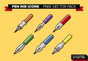 Pen Nib Icons Free Vector Pack