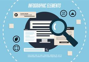 Free Infographic Elements Vector Background