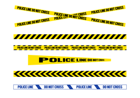 Free Police Line Vector
