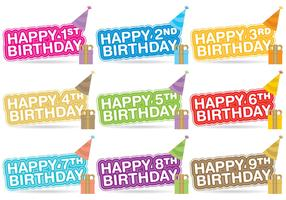 Birthday Title Vectors