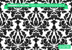 Arabesco Pattern Free Vector Background Vol. 3