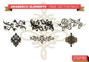Arabesco Elements Free Vector Pack