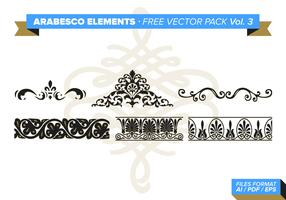 Arabesco Elements Free Vector Pack Vol. 3
