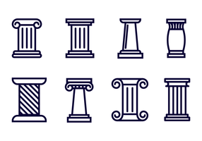 Free Roman Pillar Icon Vector