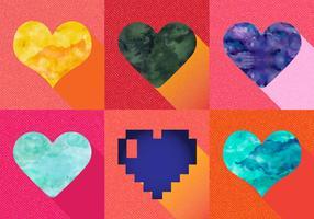 Watercolor Heart Vectors