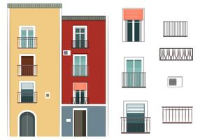 Colorful Building Vectors
