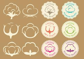 Cotton Logos And Badge Vectors
