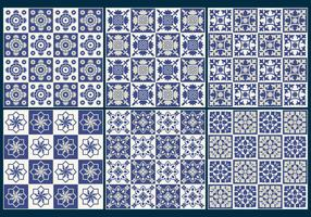 Blue Tiles Pattern Vectors
