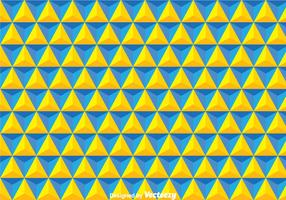 Yellow And Blue Triangles Background
