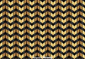 Gold And Black Chevron Pattern