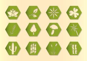Hex Vector Plants Icons
