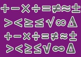 Vector Math Symbols