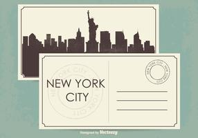 New York City Postcard Illustration