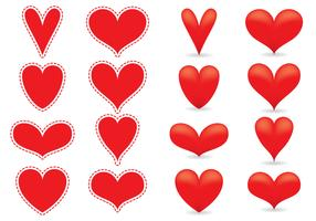 Red Heart Vectors
