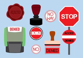 Vector Illustration of Various Denied Stamps