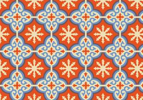 Orange Moroccan Pattern Background Vector