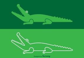 Free Vector Crocodile Logo