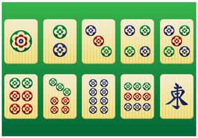 Mahjong Pieces 3rd pack - Vector