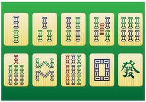 Mahjong Pieces 2nd pack - Vector