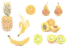 Fruit pixel Illustration