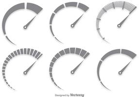Gray Tachometer Vector Set