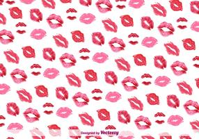 Kiss Background Pattern Vector