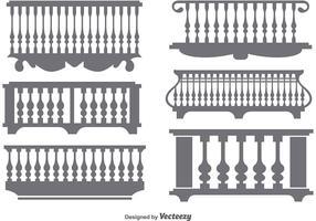 Flat Classical Balcony Icon Vectors