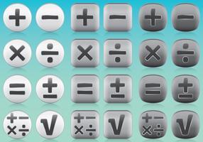 Vetores de ícones da aplicação de matemática