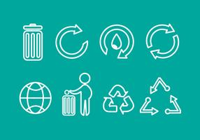 Free Trash Recycle Vector Icons