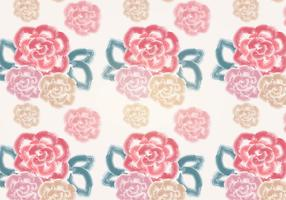 Vector Watercolor Rose Pattern