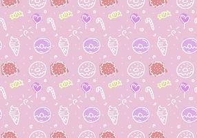 Free Pink Cake Vector Pattern