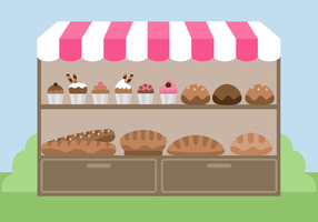 Free Bakery Stand Vector