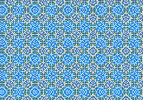 Blue Floral Mosaic Pattern