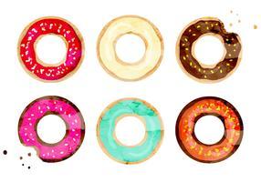 Vector Watercolor Donuts