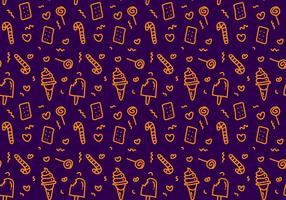 Free Candy Vector Pattern