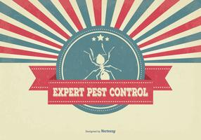 Retro Pest Control Illustration