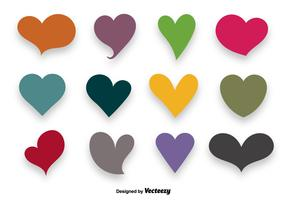 Colorful Hearts Vector Set