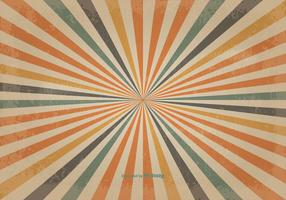 Retro Colored Sunburst Vector Background