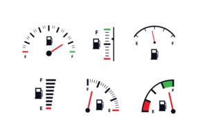 Free Fuel Gauge Icon Vector