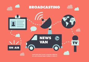 Free Flat News Journalist Vector Background