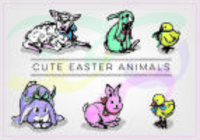 Vector Free Easter Animals