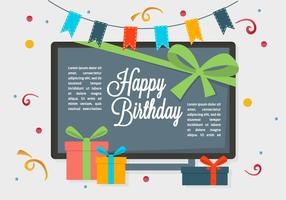 Free Happy Birthday Vector Background
