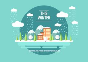 Winter Adventure Illustration Vector