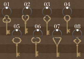 Wooden Antique Key Holder Vector
